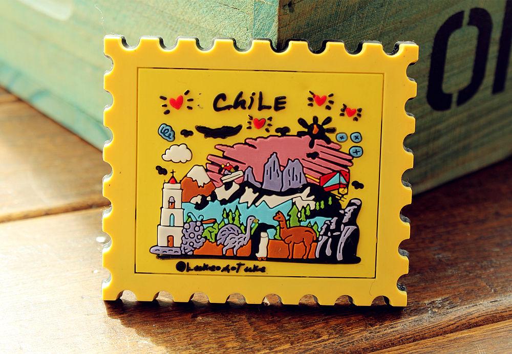 Chile Tourist Travel Souvenir Rubber Decorative Fridge Magnet Funny GIFT IDEA