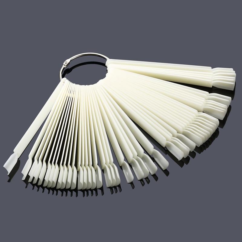 tessie mağazası 50PCS saxta dırnaq ucları Fan şəkilli saxta - Dırnaq sənəti - Fotoqrafiya 2