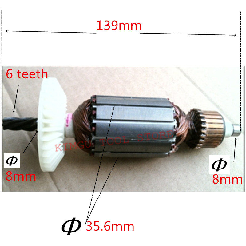 AC220-240V  Motor Armature  Engine Replacement For HITACHI D13VG D13VF D10VG Anchor