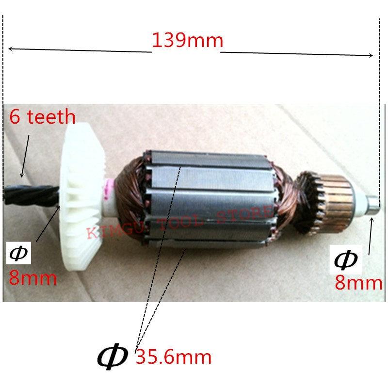 AC220-240V motore Armatura Del Motore di Ricambio per HITACHI D13VG D13VF D10VG di AncoraggioAC220-240V motore Armatura Del Motore di Ricambio per HITACHI D13VG D13VF D10VG di Ancoraggio
