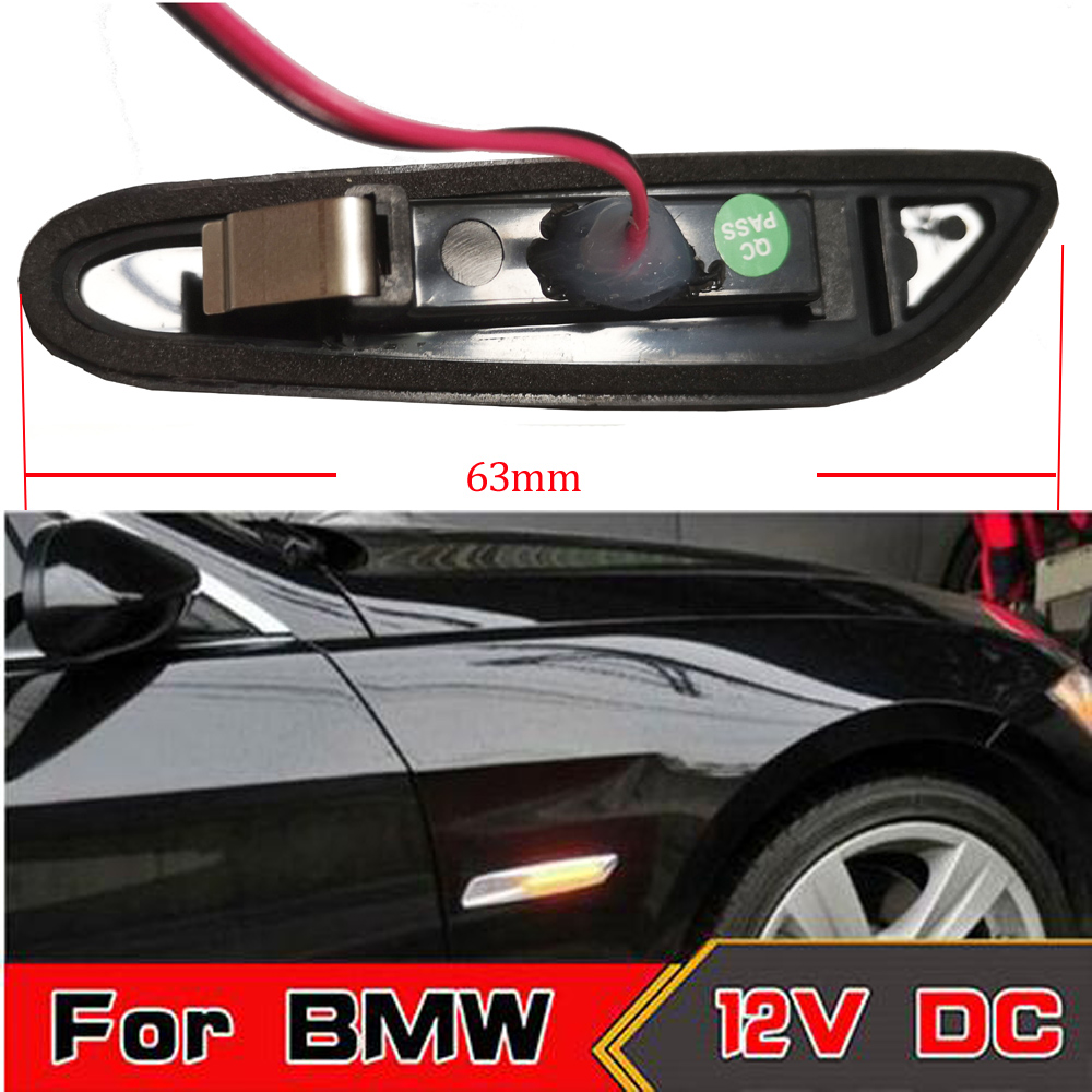 HNYRI 2pcs Smoke LED Amber Fender Side Marker Lamp Turn Signal Light for BMW E46 316I 318I 325I 330I 12V E53 X3 E83 E90 E46 combo for 2007 2015 jeep wrangler smoke lens amber led front turn signal light fender side marker parking lamp