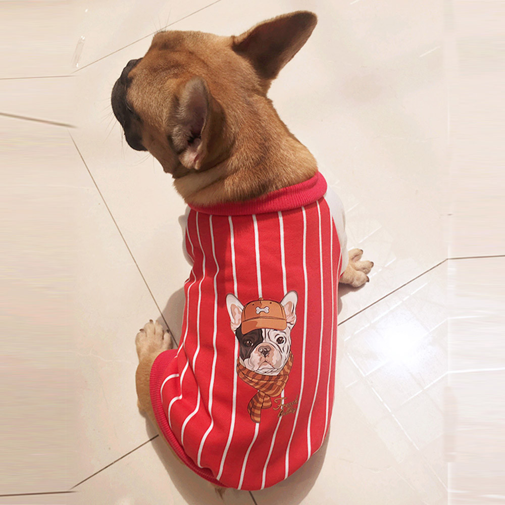 Fashion Small Dogs Costume Clothes For Little Dogs Overalls British Bull Cute Dog Coat Cotton Sport Style Cool Dog Apparel