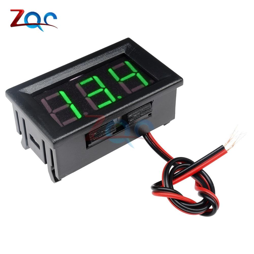 HTB14bpoXfWG3KVjSZPcq6zkbXXa4 0.56'' Mini LED Digital Voltmeter Detector DC 0-100V 12V 24V Voltage Capacity Monitor Volt Panel Tester Meter For Motorcycle Car