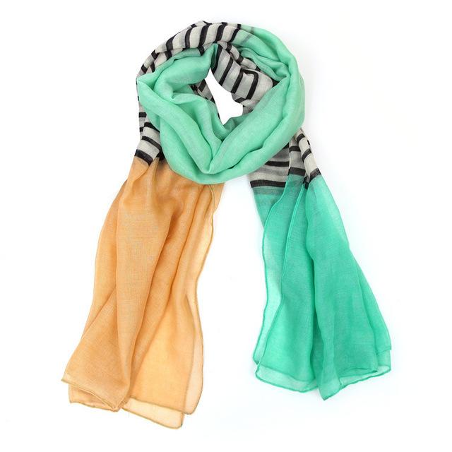 Triple Colorful Stripe Scarves | Shawls & Wraps