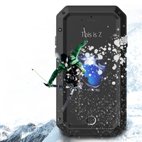 For IPhone 5C Metal Zinc Alloy Silicone Protective Water Dirt Shock Proof Luxury Doom Armor Life