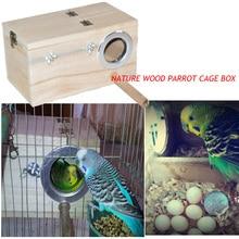 Фотография 2015 hot sell bird breeding Nest Box Wood vlsivery DIY Kit Parrot Cage Fitting Nesting Lock  small