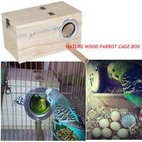 2015 hot sell bird breeding Nest Box Wood vlsivery DIY Kit Parrot Cage Fitting Nesting Lock medium