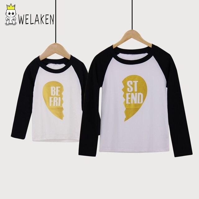 Welaken 2018 Mother Son Outfits Best Friend Family T Shirt Mother
