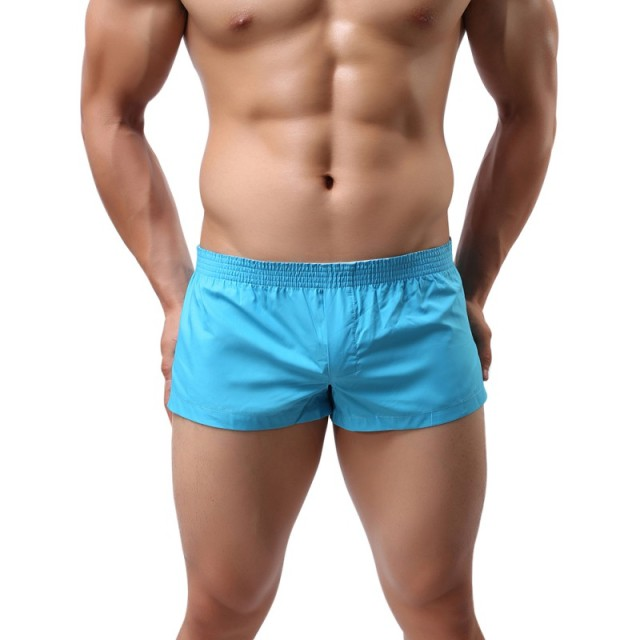Drawstring Boxer Men Solid Color Casual Loose Elastic Fashion Quick-Dry Boxershorts Mens Underwear Boxers Homme Cuecas M-XXL