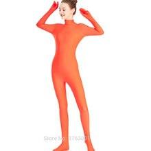 ae2c968f332 Women Full Body Leotard Footed Unitard Lycra Spandex Bodysuit Zentai Sexy  High Neck Disco Dance Lady Catsuit Halloween Jumpsuit