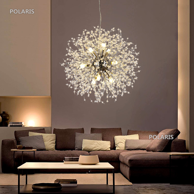 Moderne Lustre En Cristal Éclairage Cristal Lustres Lampe LED Pendentif Accroché Lumière Lustres De Cristal Lampe Restaurant Lumière