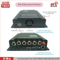 X9s Series KIT (GPS, WiFi, 3G or 4G), 4G LTE 4CH Analog HD 720P HDD&SD Card Mobile DVR Internet Vehicle Fleet control platform
