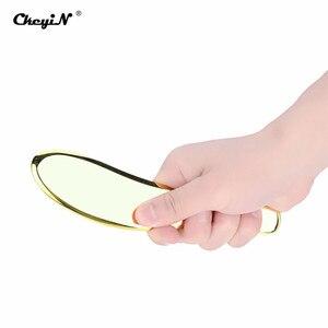 Image 5 - טהור נחושת פליז לוח גוף עיסוי כלי Guasha לוח עבור גירוד לעיסוי כלים ספא מגרד