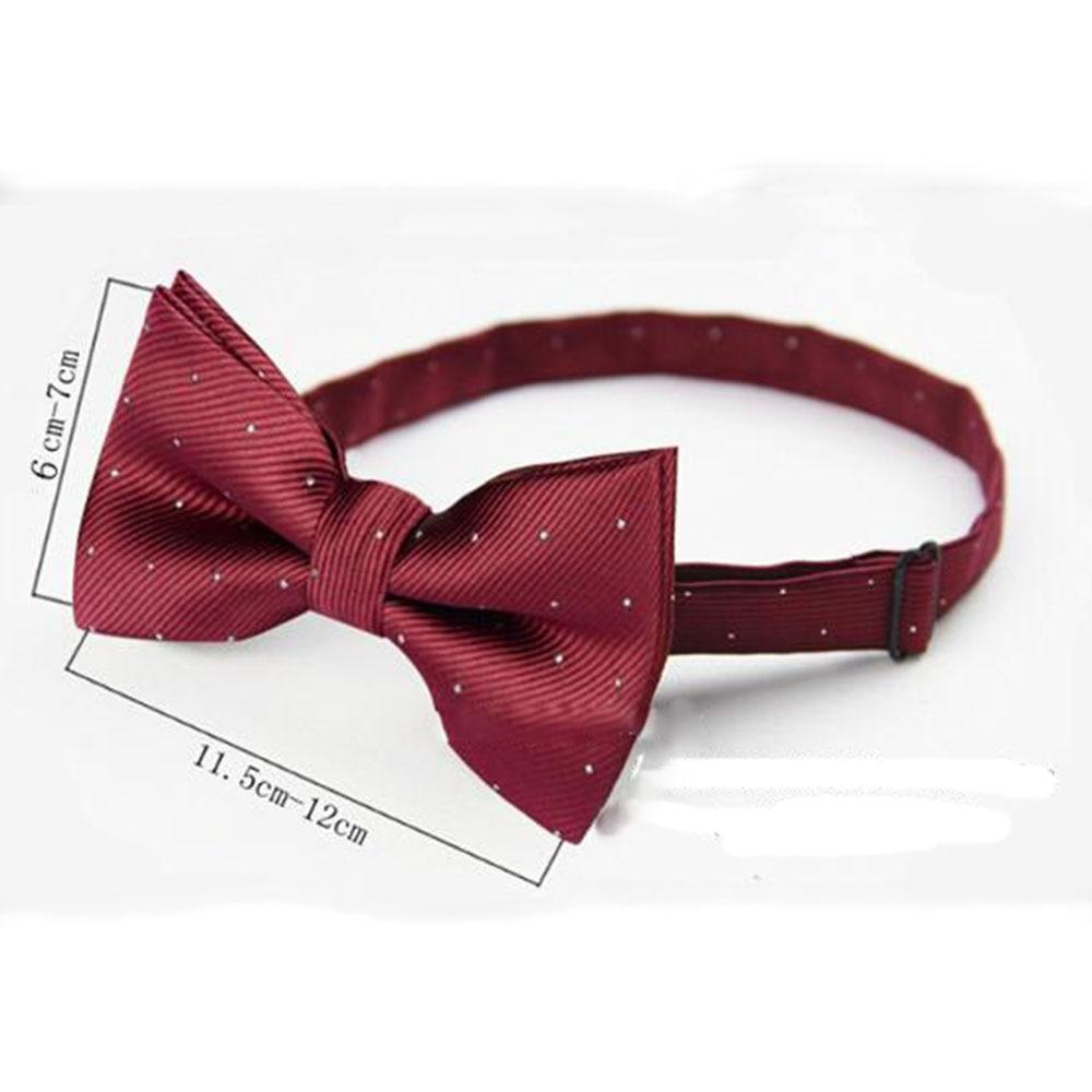 Children Bow Tie Baby Boy Kid Clothing Accessories Solid Color Gentleman Shirt Neck Tie Bowknot Dot Vestidos Gravata Borboleta