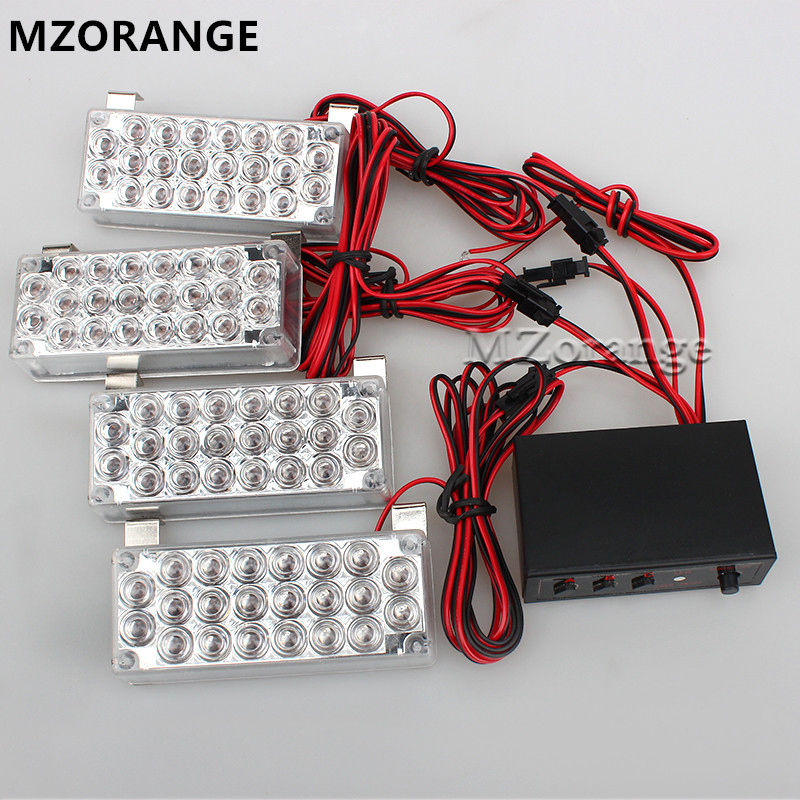Car Flashing 2*22 4*22 6*22 8*22 Emergency LED Strobe Light Emergency Warning 12v EMS Police Lights 3 Modes car-styling 22 1152503