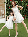 Summer New Family Matching Outfits Mother and Daughter Lace Princess Dresses Matching Mom Daughter Family Dresses