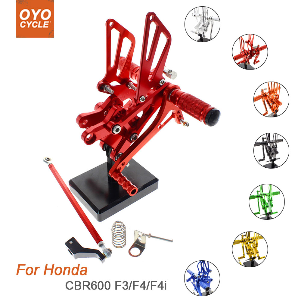 FXCNC Racing CBR 600RR Adjustable Motorcycle Rearset Foot Pegs Rear Set Footrests Fit For Honda CBR600RR NON-ABS 2009 2010 2011 2012 2013 2014 2015 2016 2017 2018 2019