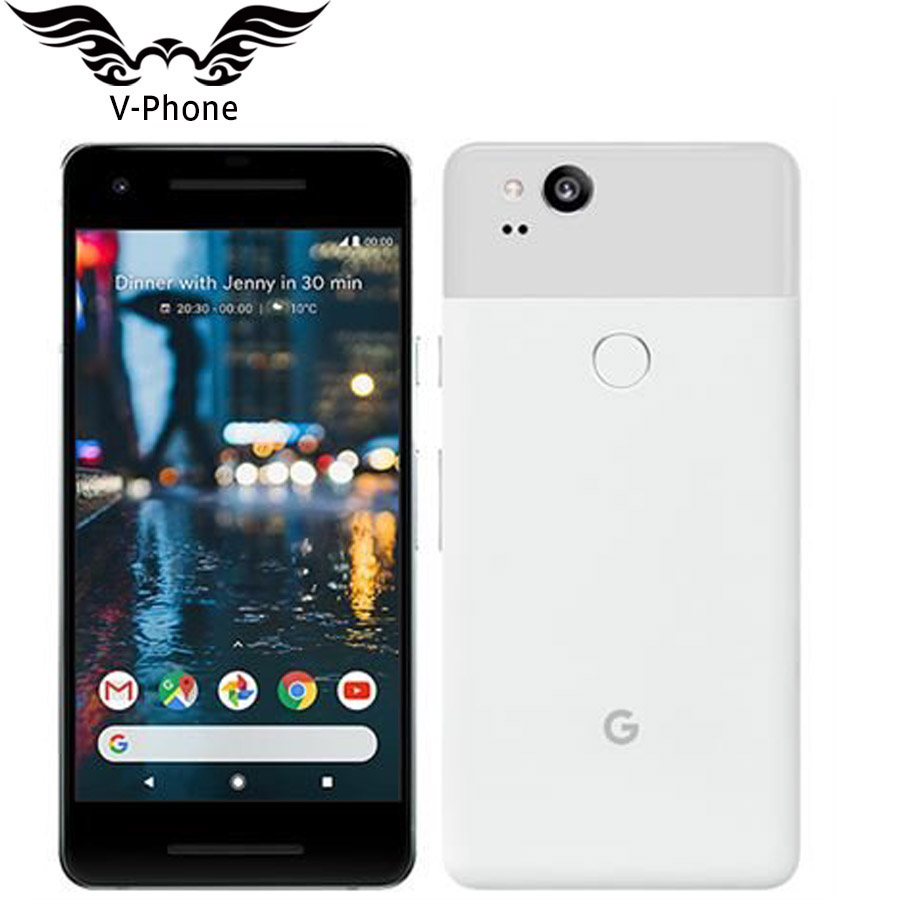 Brand New Google Pixel 2 Mobile Phone EU Version 5.0'' Snapdragon 835 Octa Core 4GB RAM 64GB 128G ROM Fingerprint 4G Smartphone