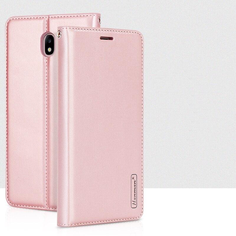 Hanman pour Samsung Galaxy J7 2017 J730 Étui Portefeuille En Cuir J7 Pro 2017 Livre Style Couverture Arrière En Silicone à Fermeture Magnétique fente Pour carte