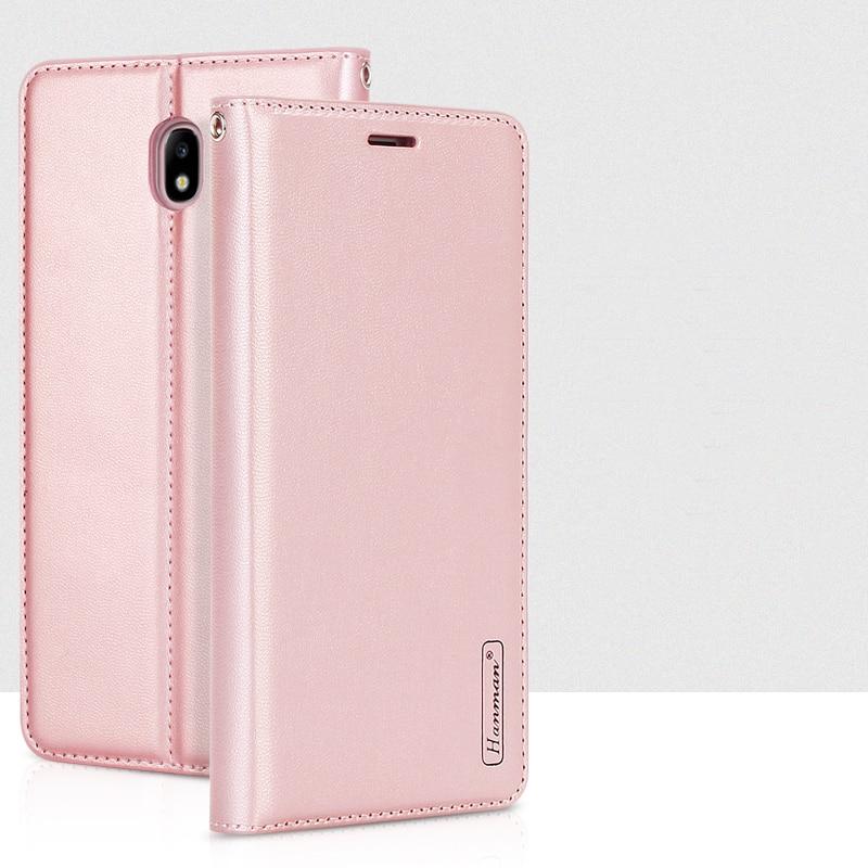 Hanman pour Samsung Galaxy J7 2017 J730 En Cuir Portefeuille Cas J7 Pro 2017 Livre Style Couverture Arrière De Silicium Magnétique Fermer Fente Pour Carte