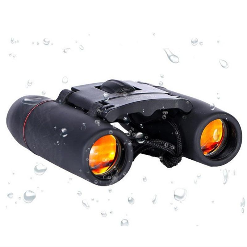 30X60 Mini HD Optical Binoculars Telescope Zoom Outdoor Travel Folding Black
