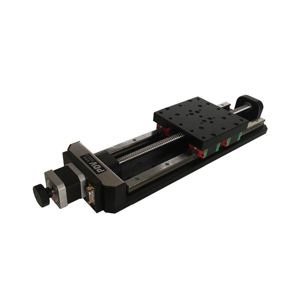 PT-GD140G Precise Electric Translating Platform, X-axis Displacement Station, Motorized Linear Stage  цены