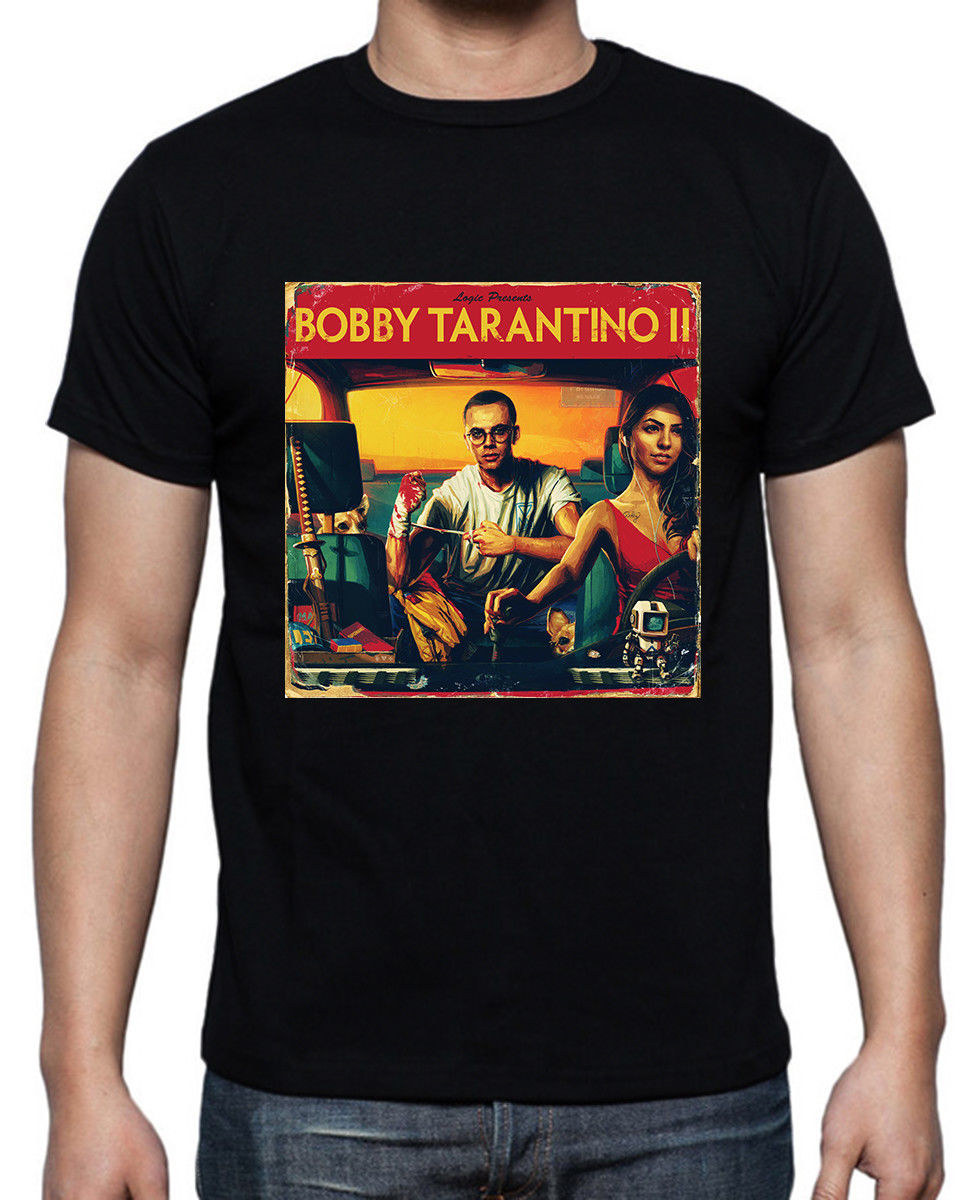 logic-bobby-font-b-tarantino-b-font-ii-black-t-shirt-size-m-to-2xl-short-sleeve-o-neck-cotton-t-shirt-2018-new-100-cotton-t-shirts-men