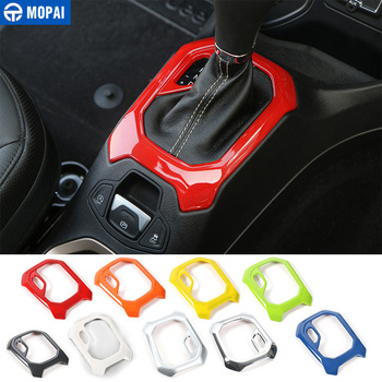 MOPAI ABS Car Interior Gear Shift Panel Decoration Trim Stickers For Jeep Renegade 2015-2016 Automatic Gearshift Car Styling