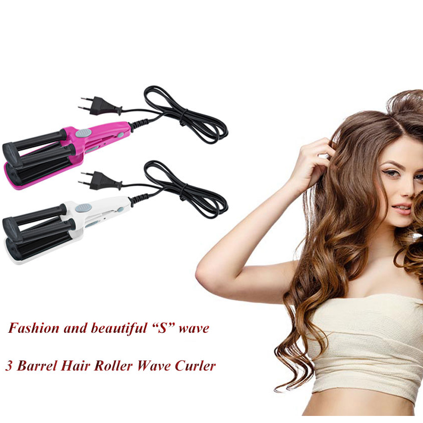 Fashion 3 Barrel Hair Curl Iron Flat Ceramic Aluminum Material Wireless Charging Power Cord Tail Assembly
