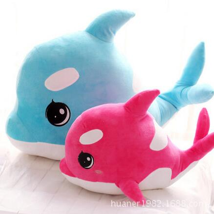 75cm Cute adorable pet big eyes dolphin whale pillow plush toys doll stuffed animal doll birthday gift big plush whale toy big head white foam dolphin doll pillow gift about 70cm