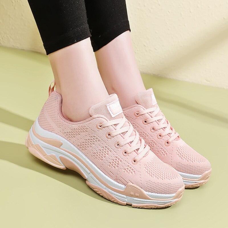 5a72b187ac8 New Women Running Jogging Shoes Air Mesh Balanciaga Sneakers Black Sport  Shoes Woman Black Walking Sneaker calcados feminino 40-in Running Shoes  from Sports ...