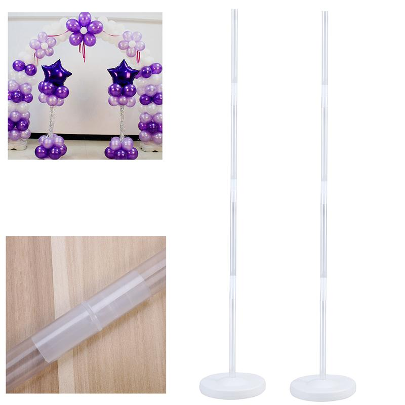 2 Pcs Balloon Column Stand Kits Arch Stand With Frame Base