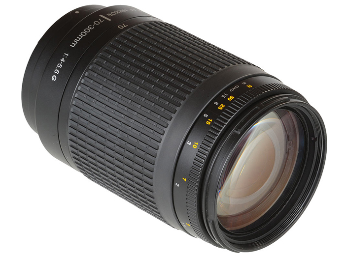 USED Nikon 70-300 Mm F/4-5.6G Zoom Lens With Auto Focus For Nikon DSLR Cameras