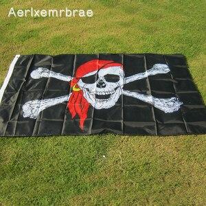 Aerlxemrbrae флаг огромный Череп и крест Скрещенные Кости Пират Веселый Роджер флаги холловин KTV подвесное украшение