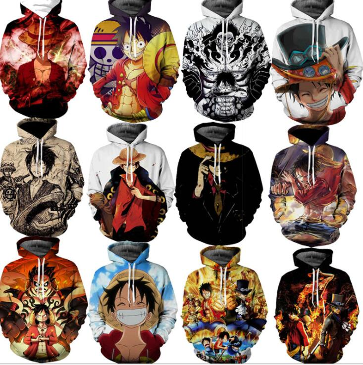 Men's Clothing Good Fashion 3d Hoodie Sweatshirt Anime One Piece Monkey D Luffy Hooded Hoodies Pullovers Tops Oversized Streetwear 3xl Drop Shipping
