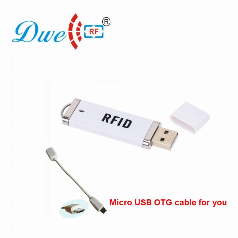 DWE CC RF USB RFID Card Reader For Android Mini 125khz TK4100 Or 13.56mhz MF NFC Portable Scanner Type C P01