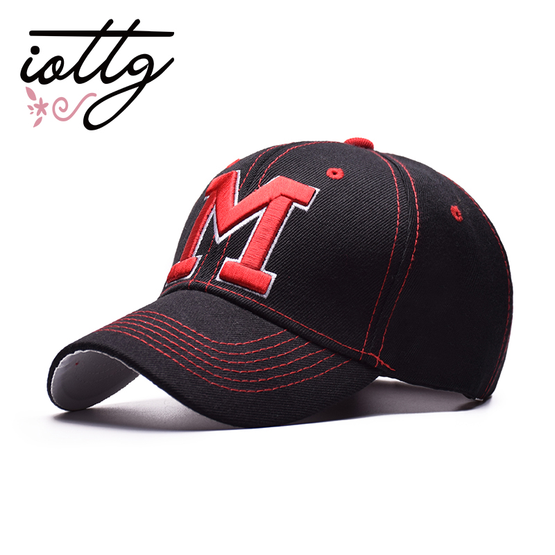 IOTTG New Brand Letter M Embroidered   Baseball     Cap   For Men Women Sports Snapback   Caps   Hat