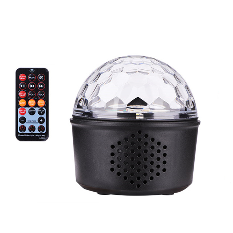 Mini Voice Activated USB Crystal Magic Ball LED Stage Disco Ball Projector Party Lights Rotary Flash DJ Lights for Home KTV Bar|Stage Lighting Effect| |  - title=