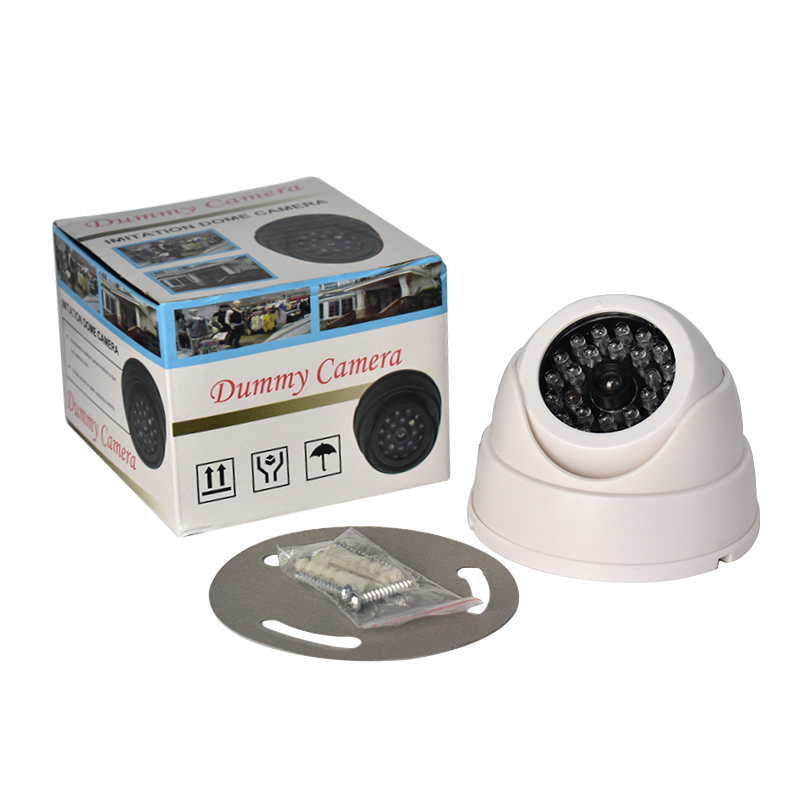 HOT LED Light Home Outdoor CCTV Fake IP Camera Dummy Surveillance Security Dome Mini Dummy Camera 26 Flashing Fake Camera