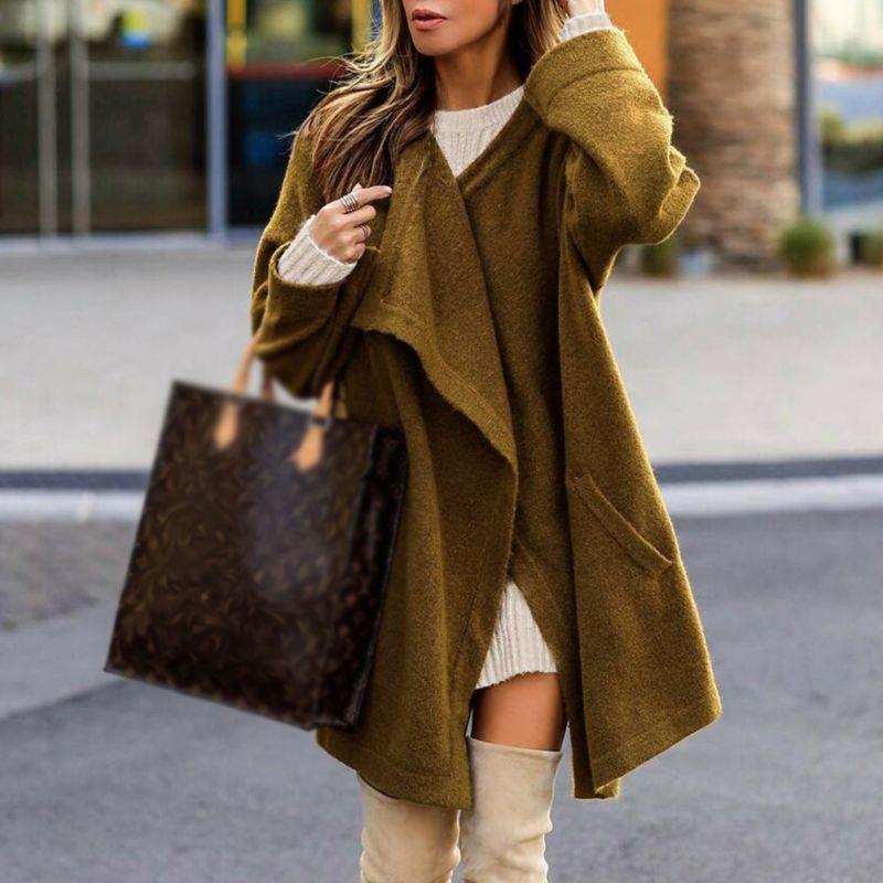2018 Herbst Dünne, Weiche Gestrickte Strickjacke Pullover Kaninchen Pelz Frauen Unregelmäßigen Langarm Mantel Femme Casual Lose Pullover HeißEr Verkauf 50-70% Rabatt