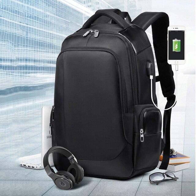 Деловой рюкзак для ноутбука мужской 15,6 дюймов рюкзак для ноутбука Внешний USB задний пакет сумка 20L Высокая емкость путешествия рюкзак