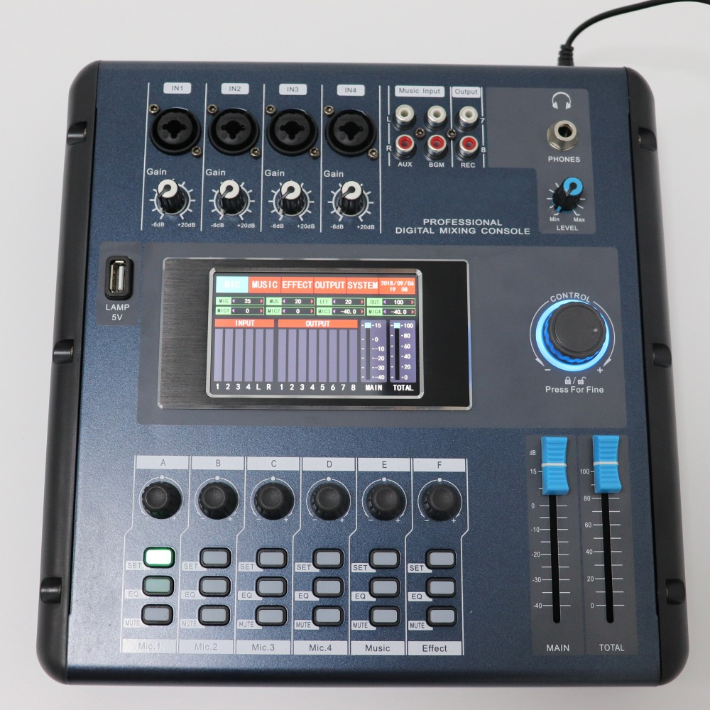 Betagear Screen-Touch M2006 Digital Mixer Audio Mixer Audio Professional Mixing Consoles Mini Sound Mixer Equipos De Musica