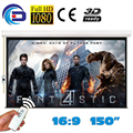 150'' 16:9 High Quality Electric Projection Screen pantalla proyeccion for LED LCD HD Movie Motorized Projector Screen