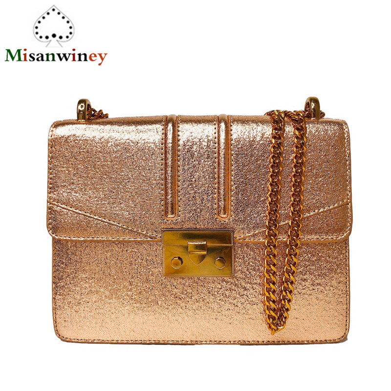 Luxury Brand Women Chain Shoulder Bags Leather Messenger Bag Chain Handbag Clutch Purse Famous Designer Locks Bag Channels erangbear women bags fashion brand famous designer mini shoulder bag woman chain crossbody bag messenger handbag bolso purse