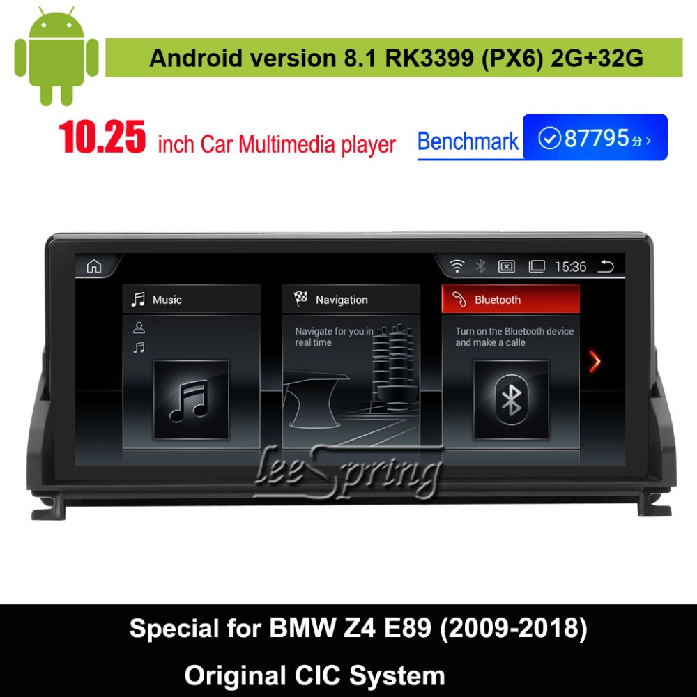 Android 8.1 Car Audio Vdieo Player for BMW Z4 E89 (2009-2018) Original CIC System Car original Screen to upgrade