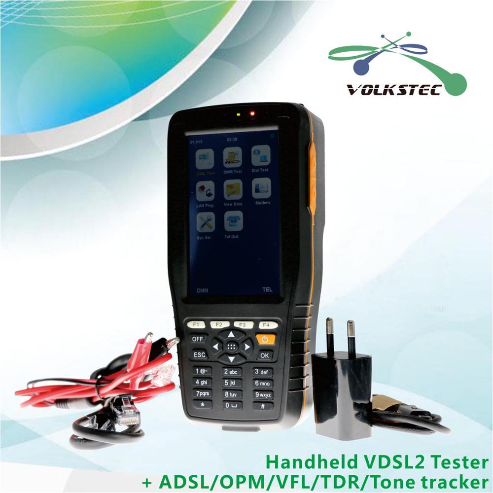 Testeur haute précision VDSL2 ADSL2 + testeur avec compteur de puissance optique VFL TDR & Tone tracker livraison gratuite