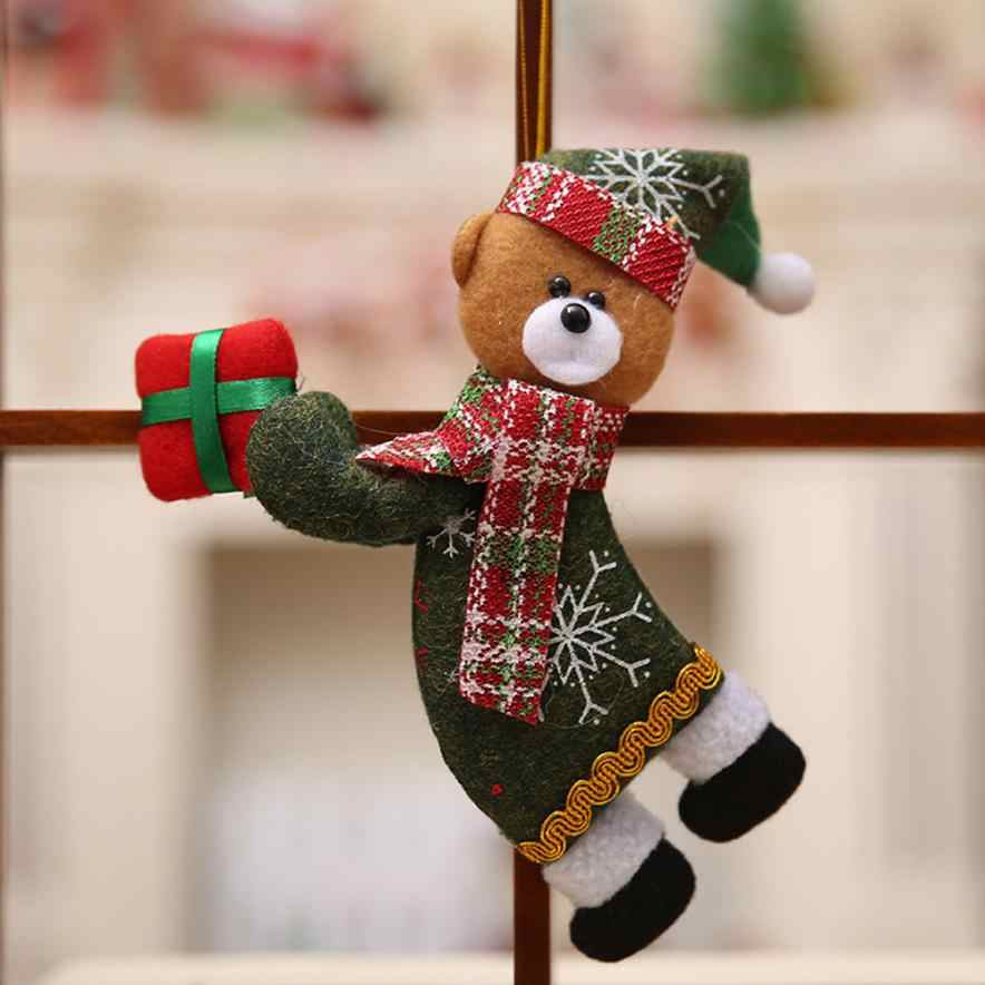 Chamsgend Selamat Natal Mainan Boneka Menggantung Dekorasi Natal Snowman Pohon Kain Ornamen Hadiah Enfeites De Natal Dropshopper