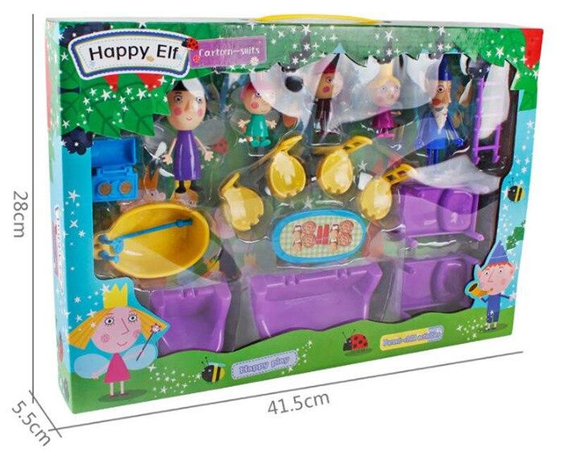 New arrived Little Kingdom Ben Holly Action Figure 2-9cm PVC Figurines Ben and Holly Little Kingdom Mini Figures Toys Kids Gift ben howard ben howard every kingdom