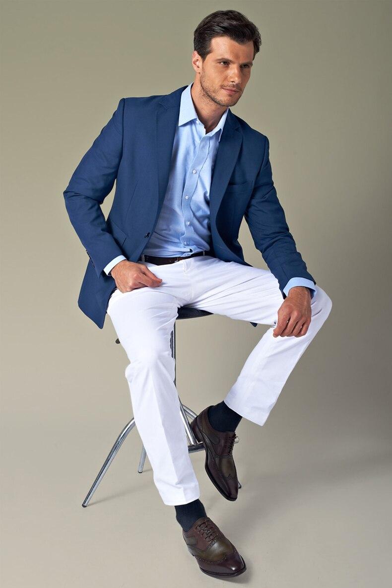 2017 Latest Coat Pant Designs Navy Blue Casual Custom Men Suits ...
