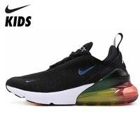 Nike Air Max 270 (gs) дети будут официальный дети бег обувь напольная, Удобная Спортивные кроссовки # AQ9164